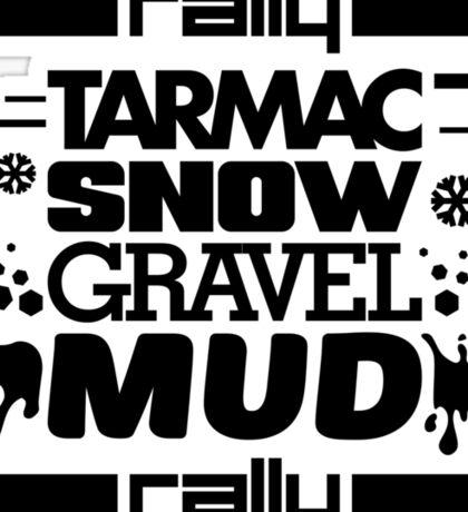 Rally – tarmac snow gravel mud (1) Sticker