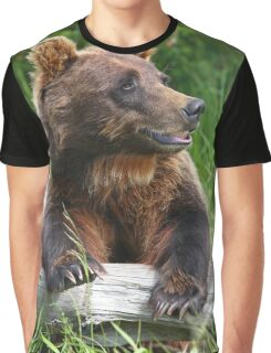 Brown Bear Portrait Graphic T-Shirt