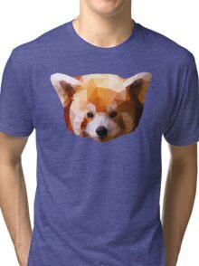 Low Poly Red Panda Artwork Tri-blend T-Shirt