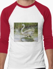 Bayou Caddy Great Egret Men's Baseball ¾ T-Shirt