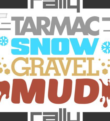 Rally – tarmac snow gravel mud (3) Sticker