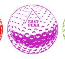 Golf tshirt - East Peak Apparel - Multi Coloured Golf Balls Print Sticker