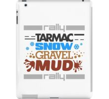 Rally – tarmac snow gravel mud (4) iPad Case/Skin