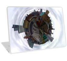 Tiny Planet Manchester Skyline taken from the roof of the Phones 4U Arena Laptop Skin