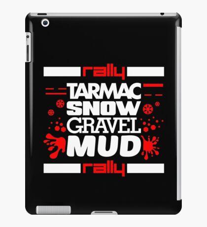 Rally – tarmac snow gravel mud (5) iPad Case/Skin