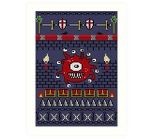 Dungeons and Dragons - Knitted Style Art Print
