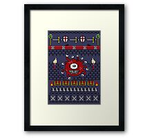 Dungeons and Dragons - Knitted Style Framed Print