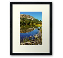 Smith Lake Reflection Framed Print