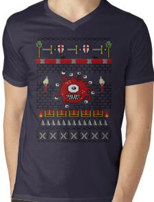 Dungeons and Dragons - Knitted Style Mens V-Neck T-Shirt