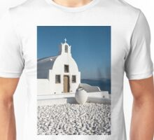 White Church, Oia, Santorini Unisex T-Shirt