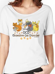 OCD Obsessive Cat Disorder Saying Women's Relaxed Fit T-Shirt