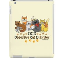 OCD Obsessive Cat Disorder Saying iPad Case/Skin