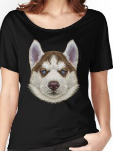 Husky Puppy Women's Relaxed Fit T-Shirt