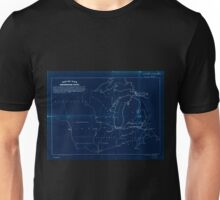 0060 Railroad Maps Map of the northwestern states Shewing sic what proportion lies north of the parallel of South Bend of Lake Michigan It will be seen at a glance that the Inverted Unisex T-Shirt