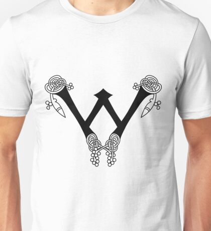 Kells Letter W Unisex T-Shirt