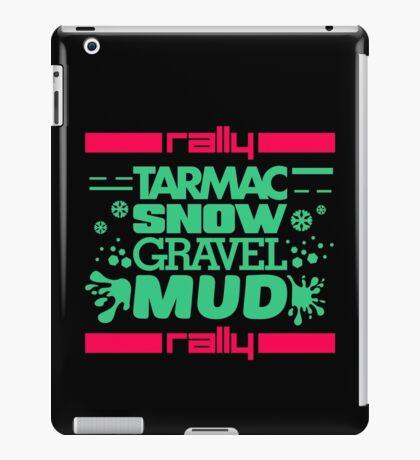 Rally – tarmac snow gravel mud (7) iPad Case/Skin
