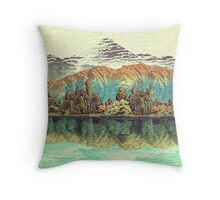 The Unknown Hills in Kamakura Throw Pillow