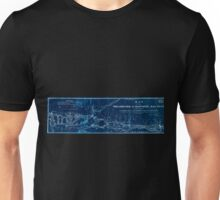 0354 Railroad Maps Map of the Philadelphia Baltimore Rail Road as located by W Strickland B H Latrobe Esqrs civ engineers Showing also the present route by steamboat the N Inverted Unisex T-Shirt