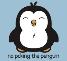 No Poking The Penguin Cartoon One Piece - Short Sleeve