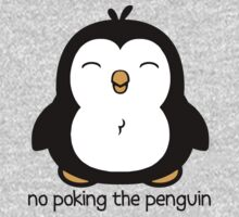 No Poking The Penguin Cartoon One Piece - Long Sleeve