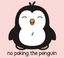 No Poking The Penguin Cartoon Kids Tee