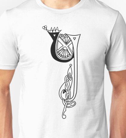 Kells Letter Y Unisex T-Shirt