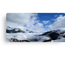 In the clouds Canvas Print
