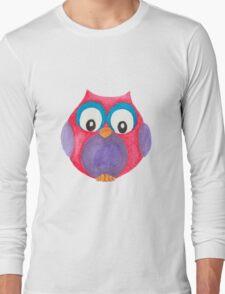 Elwood the curious little owl Long Sleeve T-Shirt