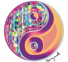 Glitchy Yin Yang by STORMYMADE