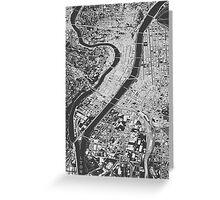 Lyon, wireframe Greeting Card