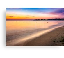 urban sand beach early in the morning Canvas Print