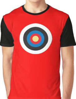 Bulls Eye, Target, Roundel, Archery, on Red Graphic T-Shirt