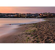urban sand beach early in the morning Photographic Print