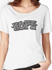 'Hope' Traditional Typography Horizontal Women's Relaxed Fit T-Shirt