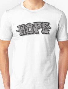'Hope' Traditional Typography Horizontal T-Shirt