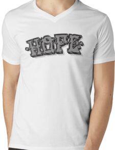 'Hope' Traditional Typography Horizontal Mens V-Neck T-Shirt