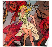 Woman led by evil demons Poster