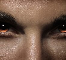 Closeup of man fierce eyes art photo print by ArtNudePhotos