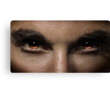 Closeup of man fierce eyes art photo print Canvas Print