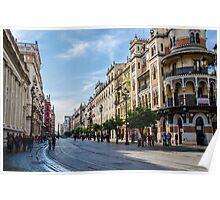 Avenida Constitucion - Seville Spain Poster