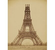 The Eiffel Tower: State of the Construction (Nov. 23, 1888) Photographic Print