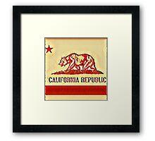 California Republic Flag K1 Framed Print