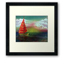 Sail The Horizon Framed Print