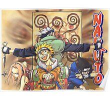 Naruto & Sasuke & Sakura & Kakashi Poster