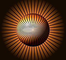 Abstract Brown Globe by Henrik Lehnerer