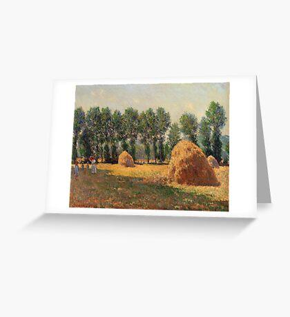 Claude Monet - Haystacks At Giverny  Greeting Card