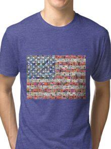 Stars and Stripes - Digital Tri-blend T-Shirt