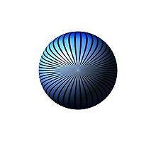 Blue Star Globe by Henrik Lehnerer