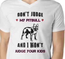 my pitbull Mens V-Neck T-Shirt