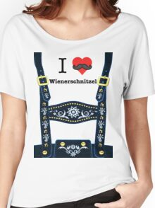 Lederhosen - Blue Women's Relaxed Fit T-Shirt